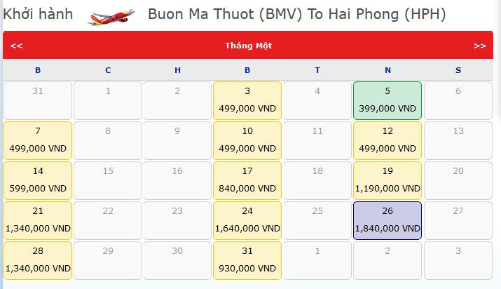 Vé-máy-bay-tết-Buôn-Ma-Thuột-Hải-Phòng