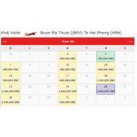 Vé máy bay tết Buôn Ma Thuột Hải Phòng 2020