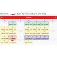 Vé máy bay tết Buôn Mê Thuột Vinh 2019